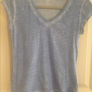 Blue V-neck T-shirt by a.n.a.